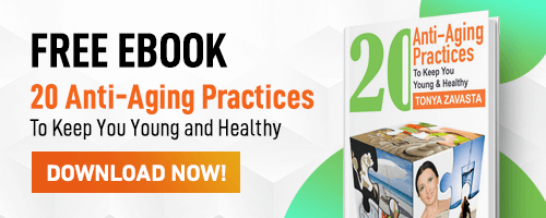 Get a FREE ebook - 20 Anti-aging practices