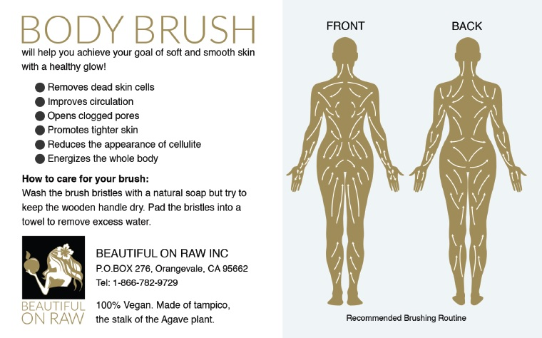 Body Brushing Beautiful On Raw