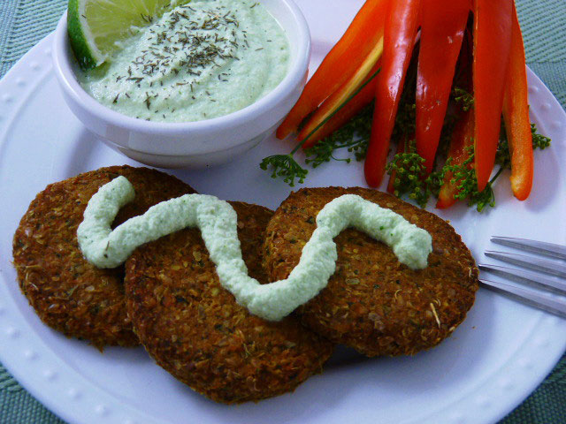Lentil patties with cucumber dill sauce beautiful on raw lentil patties with cucumber dill sauce forumfinder Gallery