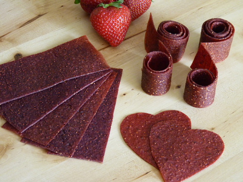 Strawberry Fields Fruit Leather | Beautiful on Raw